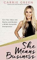 She Means Business - Carrie Green book cover image