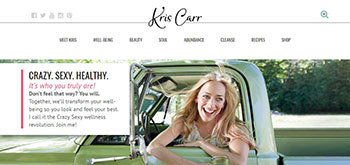 Kris Carr website image