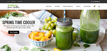 Simple Green Smoothies website image