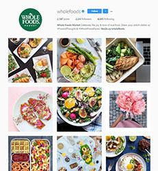 Whole Foods Instagram account image