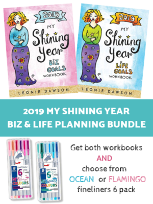 2019 My Shining Year Biz & Life Goals Workbook Bundle - Leonie Dawson